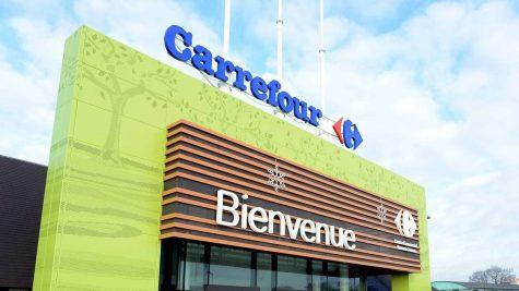 L'entrée du magasin Carrefour de Cesson-Sévigné Photos d'illustration des enseigne des grands magasins autour de Rennes et Chantepie  *** Local Caption ***  Page Rennes